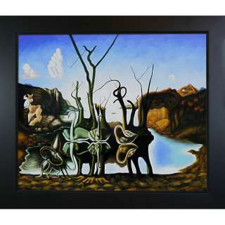 Salvador Dali Swans Reflecting Elephants Canvas Art