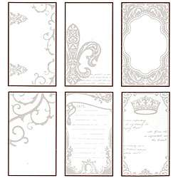 Tattered Angels Regal Embossed Chip Tiles (Pack of 6)