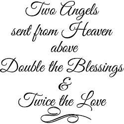 Two Angels Sent From Heaven Above Vinyl Wall Art