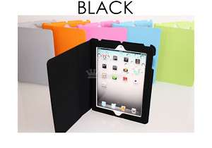 2pcs Apple iPad 2 Protective Magnetic Smart Cover Case Black Color