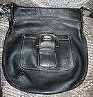 Makowsky black leather small handbag shoulder messenger bag purse