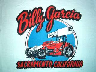 vintage BILLY GARCIA SHIRT Sprint Car Driver Racing SM