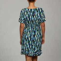 Tiana B. Womens Plus Size Scribble Print Jersey Dress