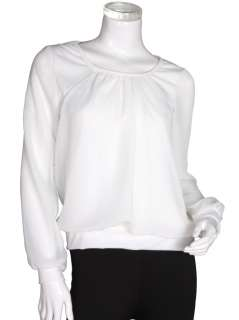 Round Neck Chiffon Blouse Shirt Top WF 120