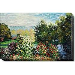 Claude Monet Corner of the Garden at Montgeron Canvas Art