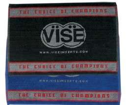 Vise Bowling Ball Towel Black/Grey or Blue/Grey NIB