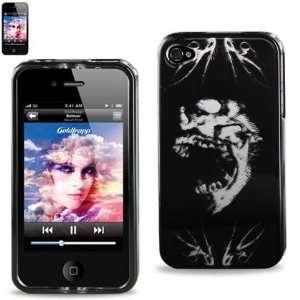 Hard Case Designed for Men IPhone 4 4S Black w/Screaming