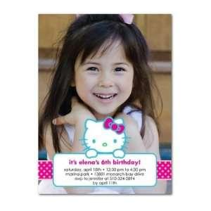 Birthday Party Invitations   Hello Kitty Dotty Fun By