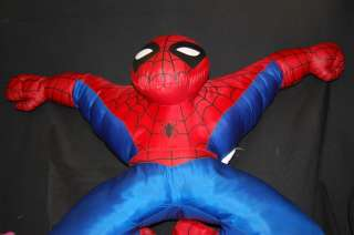 Plush Stuffed 2003 Marvel Comics Spiderman Super Hero Lovey Pillow Toy