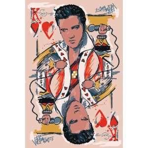 Elvis King of Heart Rug