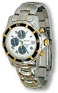 Bulova Marine Star Mens Two Tone 100 M Chrono  Overstock