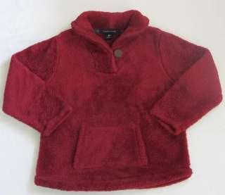 Boy Girl Lands End Sherpa Pullover jacket top sz 4t