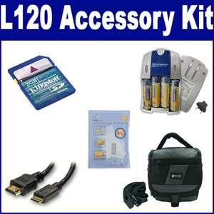 Nikon Coolpix L120 Digital Camera Accessory Kit, Charger, Memory Card