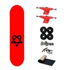 Bam Heartagram Pro HIM Skateboard Complete: Sports