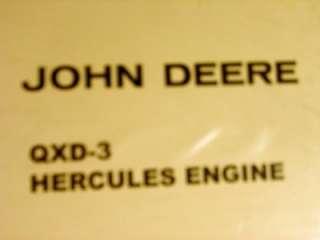 John Deere QXD 3 Hercules Engine Service repair catalog