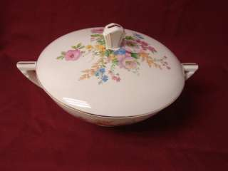 Vintage Knowles, Edwin, China Dinnerware Pink rose spray, Covered