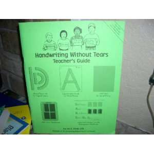 Handwriting Without Tears Kindergarten Teachers Guide
