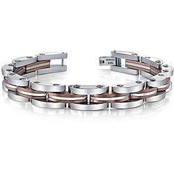 Stainless Steel Copper Color Ion plated Mens Bracelet
