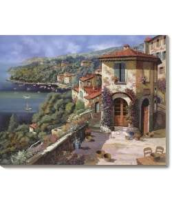 Guido Borelli Il Villaggio Sulla Costa Canvas Art