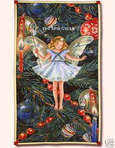 FABRIC CHRISTMAS TREE FAIRY Fairies Angel Panel Large