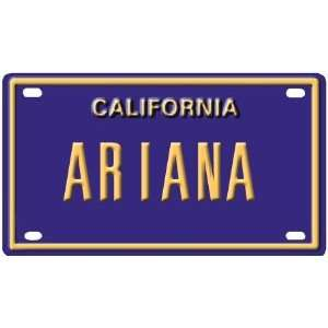 Ariana Mini Personalized California License Plate