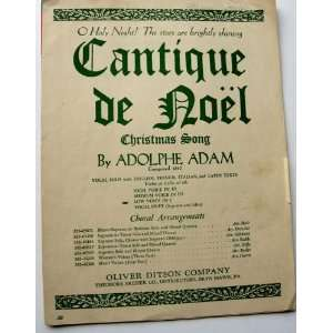 O Holy Night (Cantique De Noel) Christmas Anem Adolphe