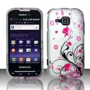Flowers Hard Cover Samsung Galaxy Indulge R910 + Mini Nano Stapler