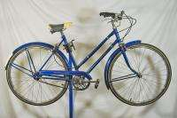 Vintage 1973 Raleigh Sports Ladies bicycle bike tourist blue fenders