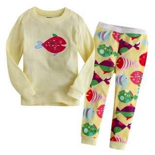 & Toddler Girl Boys Sleepwear Pajama Set  Goldfish Yellow