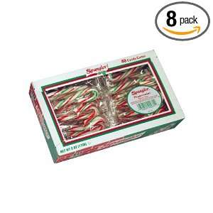 Spangler Mini Candy Canes, Red, Green and White, 40 Count (Pack of 8