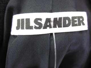 JIL SANDER Navy Wool Buttoned Blazer Jacket Coat Sz 40
