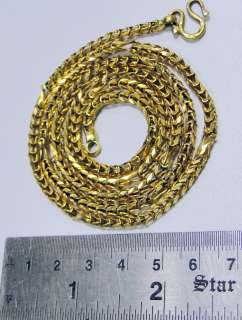 vintage 22 ct solid gold link chain necklace handmade antique