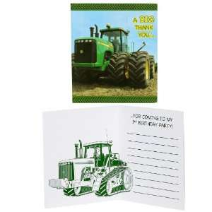 Deere 2nd Birthday Thank You Notes (8) Party Supplies Toys & Games
