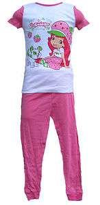 SHORTCAKE short sleeve shirt pants girls toddler pajamas costume 5