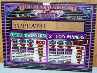 SLOT MACHINE GLASS DOUBLE DIAMOND DELUXE PROGRESSIVE 2 COIN