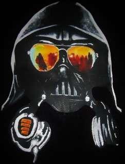 Darth Vader Golden Shades Headphones Star Wars DJ T Shirt Size Large