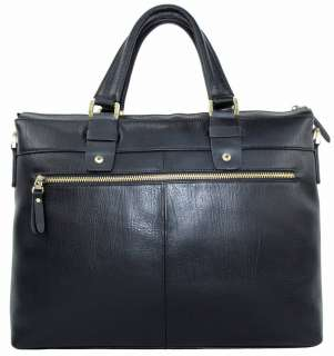 Mens TOP Genuine Cowhide Leather Case Briefcase Messenger Laptop Bag