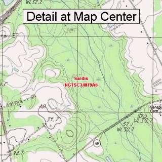 USGS Topographic Quadrangle Map   Sardis, South Carolina