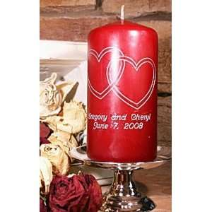 Centerpiece Candle   Intertwined Hearts: Home & Kitchen