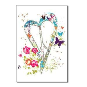 Pack) Flowered Butterfly Heart Peace Symbol Sign