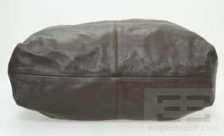 Furla Dark Brown Pebbled Leather Hobo Bag