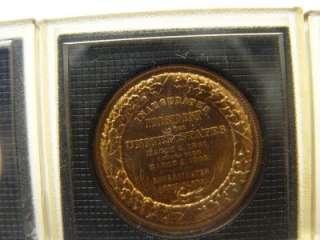 PRESIDENT Commemorative BRONZE COINS EISENHOWER,HOOVER,LINCOLN,TRUMAN