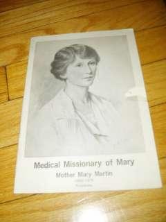 Mother Mary Martin Biography Catholic Nun Nuns Medical