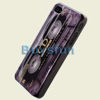 Retro look Cassette Hard Cover Case Skin for Apple iPhone 4 4G 4S