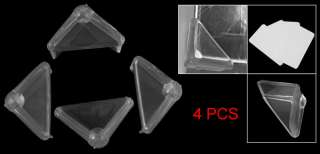 Desk Corner Clear Soft Plastic Guard Safety Pad 4 Pcs