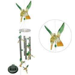 Solar powered Color changing Hummingbird Wind Chime