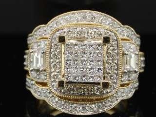 LADIES YELLOW GOLD 2.4C DIAMOND WEDDING RING BRIDAL SET