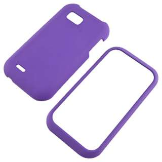LG myTouch Q C800 Purple Rubberized Hard Case Cover +Screen Protector