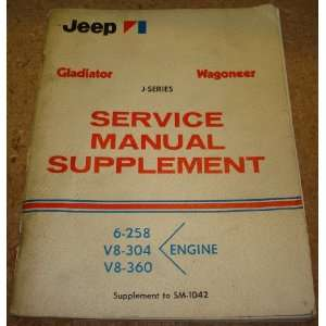 Jeep J series Gladiator Wagoneer Service Manual Supplement