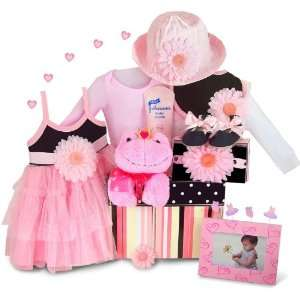 Perfectly Kissable Princess Baby Girl Gift Basket: Baby